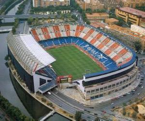 Puzle Stadionu Atlético de Madrid - Vicente Calderón -