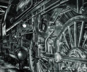 Puzle Starý parní vlak