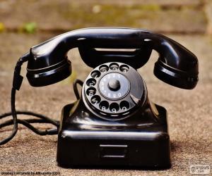 Puzle Starožitný telefon