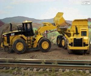 Puzle Stavební vozidla pracující