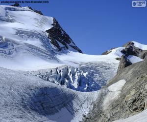 Puzle Stein Glacier, Švýcarsko