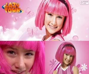 Puzle Stephanie, dívka protagonista z Lazy Town, který miluje růžovou barvu
