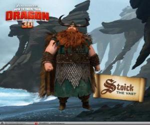 Puzle Stoick, tradiční Viking šéf
