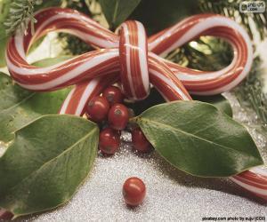 Puzle Stuhou luk vánoční cukrové třtiny