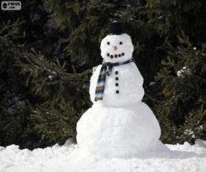 Puzle Stylový sněhulák