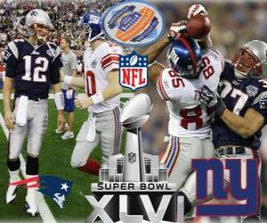 Puzle Super Bowl XLVI - New England Patriots vs New York Giants