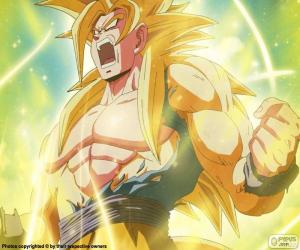 Puzle Super Saiyan Dragon Ball