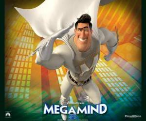 Puzle Superhrdina Metroman je soupeř super padoucha Megamysl