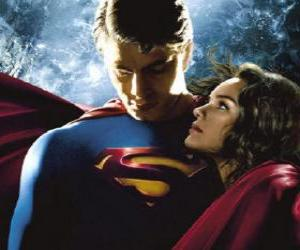 Puzle Superman s Lois Lane, reportér a jeho pravé a velkou láskou