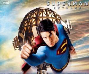 Puzle Superman, superhrdina létání