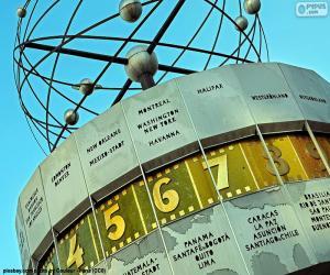 Puzle Světové hodiny, Berlín, Německo
