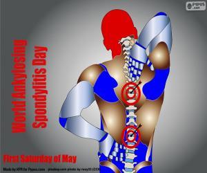 Puzle Světový den ankylozující spondylitidy