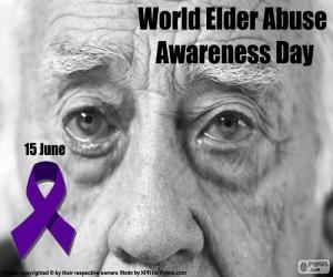 Puzle Světový den boje proti zneužívání a špatné zacházení ve stáří