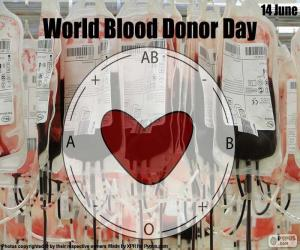 Puzle Světový den dárců krve