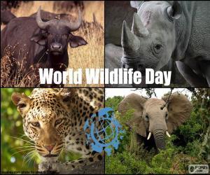 Puzle Světový den divoké zvěře