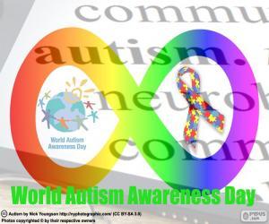 Puzle Světový den povědomí o autismu