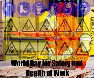 Puzle Světový den pro bezpečnost a ochranu zdraví při práci
