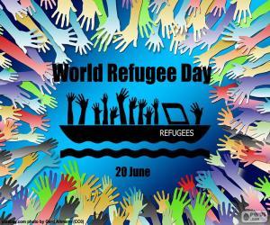 Puzle Světový den uprchlíků