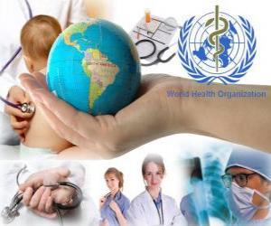 Puzle Světový den zdraví, výročí založení Světové zdravotnické organizace na 07.4.1948