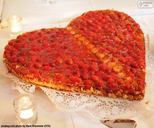 Puzle Svatého Valentýna dort