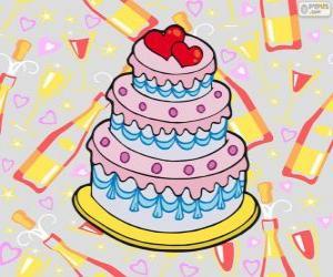 Puzle Svatební dort