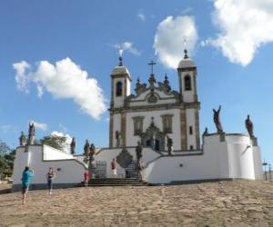 Puzle Svatyně Bom Jesus do Congonhas, Brazílie