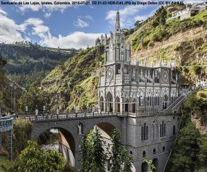 Puzle Svatyně Las Lajas, Kolumbie