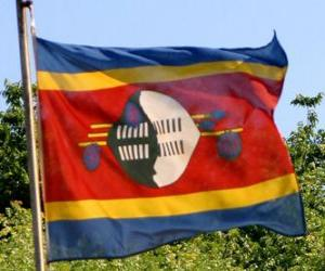 Puzle Svazijská vlajka