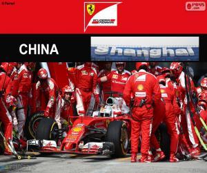 Puzle S.Vettel Grand Prix Číny 2016