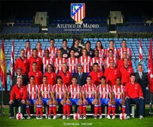 Puzle Tým Atlético de Madrid 2008-09