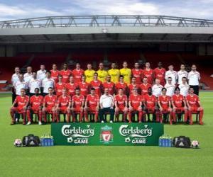 Puzle Tým FC Liverpool 2009-10