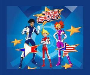 Puzle Tým Galaxy tvoří Yoko, Brett a Josh