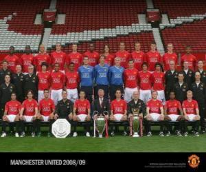 Puzle Tým Manchester United FC 2008-09