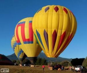 Puzle Tři balónky připraven k letu