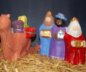 Puzle Tři králové Kašpar, Melichar a Baltazar a s jejich dary