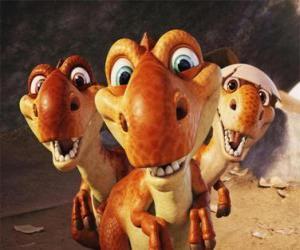 Puzle Tři malé dinosaurů