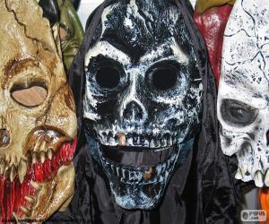 Puzle Tři masky Halloween