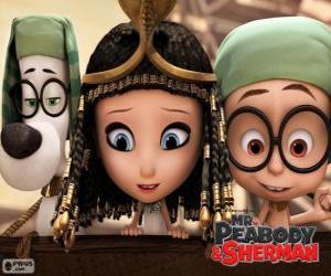 Puzle Tři protagonisté filmu pan Peabody a Sherman