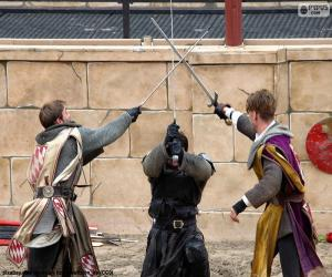 Puzle Tři rytířské boje