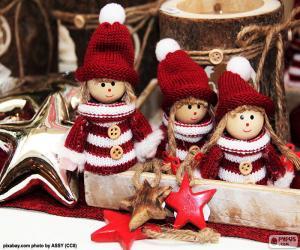 Puzle Tři vánoční panenky