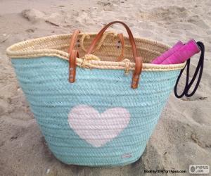 Puzle Taška na pláž