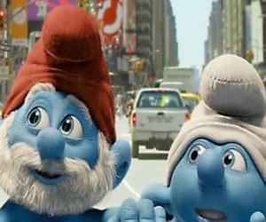 Puzle Taťka Šmoula a Nešika, v ulicích Manhattanu. - Šmoulové, film -
