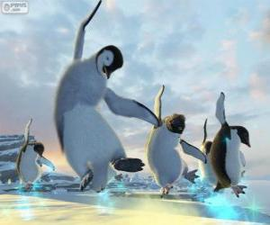 Puzle Taneční Penguins v Happy Feet filmech