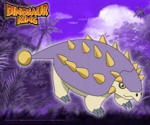 Puzle Tank, Saika. Tento Saichania dinosaura je vlastněna Ed z alfa Gang