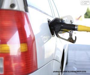 Puzle Tankování dieselového vozu