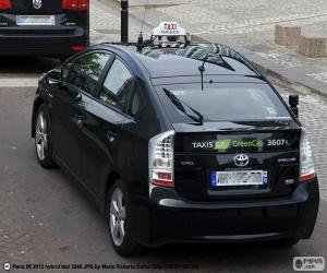Puzle Taxi z Paříže