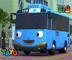 Puzle TAYO veselý a optimistický, modrý autobus