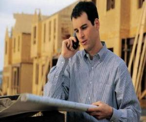 Puzle Technik poradenství v rovině stavební práce - architekt, mistr stavitel, množství nebo inženýr zeměměřič
