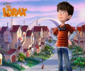Puzle Ted Wigginsi, idealistický chlapce od 12 let, hlavní protagonista filmu Lorax