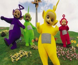 Puzle Teletubbies: Laa-Laa, Tinky Winky, Dipsy a Po